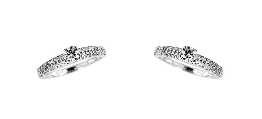 ring diamanten 14 karat 585er wei gold 0 35 karat brillantring neu zertifikat ebay. Black Bedroom Furniture Sets. Home Design Ideas